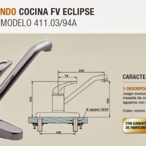 canilla monocomando FV Eclipse